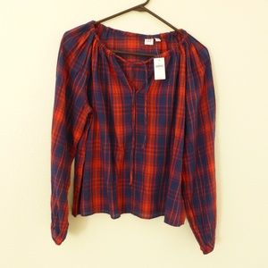 NWT GAP plaid top